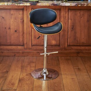 Hower Adjustable Height Swivel Bar Stool by Wrought Studio