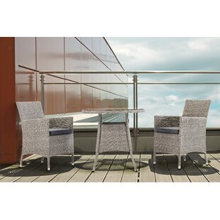 Dunes 2 Seater Bistro Set With Cushions (Set Of 3) Image