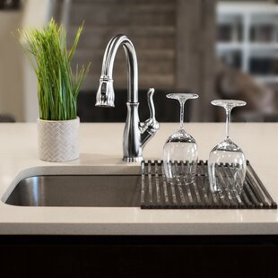 Square-Tube Roll-Up Over-The-Sink Free-Standing Dish Rack