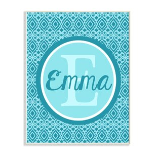 Initial And Name Personalized Wall Plaque