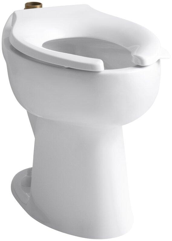 elongated toilet bowl dimensions. Highcliff 1 6 GPF 17 2  Ada Elongated Toilet Bowl with Top Inlet Kohler