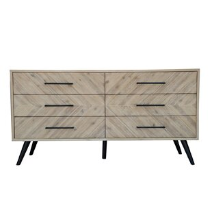 Bolanos 6 Drawer Double Dresser with Mirror by Foundry Select