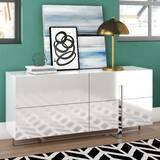 Wade Logan Royce 4 Drawer Double Dresser