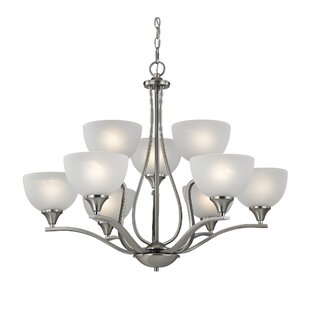 Darby Home Co Gallimore 9-Light Shaded Chandelier
