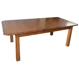 Mia Extendable Solid Wood Dining Table Loon Peak