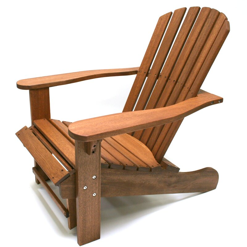 Superbe Solid Wood Adirondack Chair With Ottoman