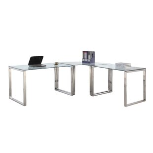 Darleene Glass L-Shape Writing Desk