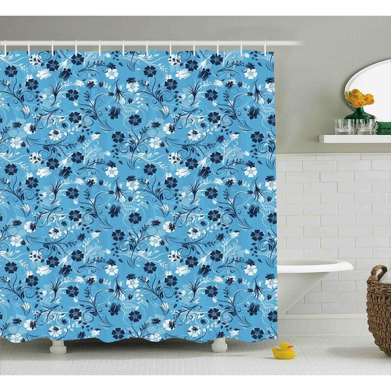 Barton Decor Shabby Elegance Petals Shower Curtain