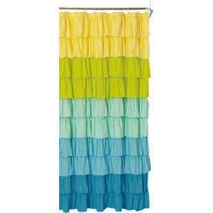 Big Save Bournazel Ruffled Shower Curtain ByBungalow Rose