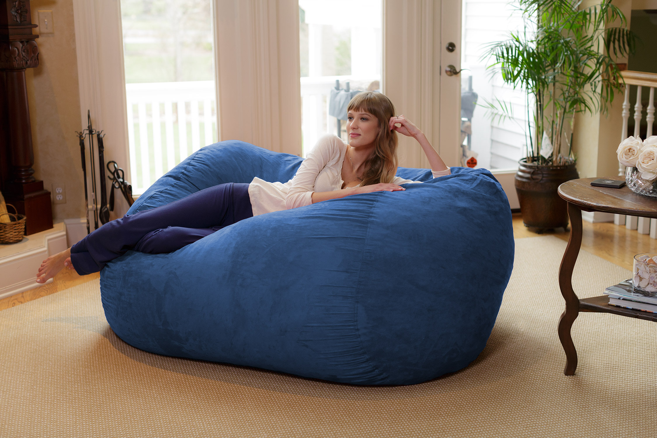 Excellent Extra Large Bean Bag Chair Unemploymentrelief Wooden Chair Designs For Living Room Unemploymentrelieforg