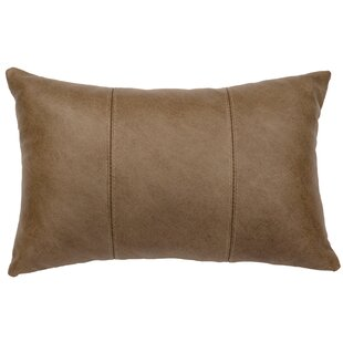 Hayfield Leather Lumbar Pillow