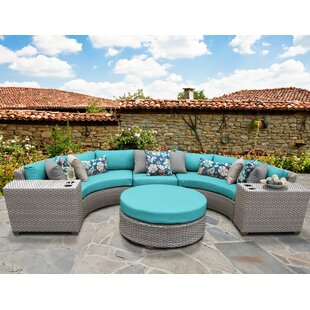 TK Classics Florence 6 Piece Sectional Set with Cushions