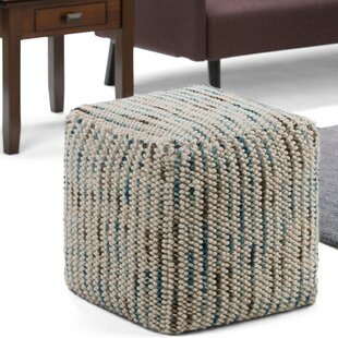 Mirfield Pouf Ottoman by Wrought Studio