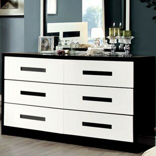 Orren Ellis Carranza 6 Drawer Double Dresser..