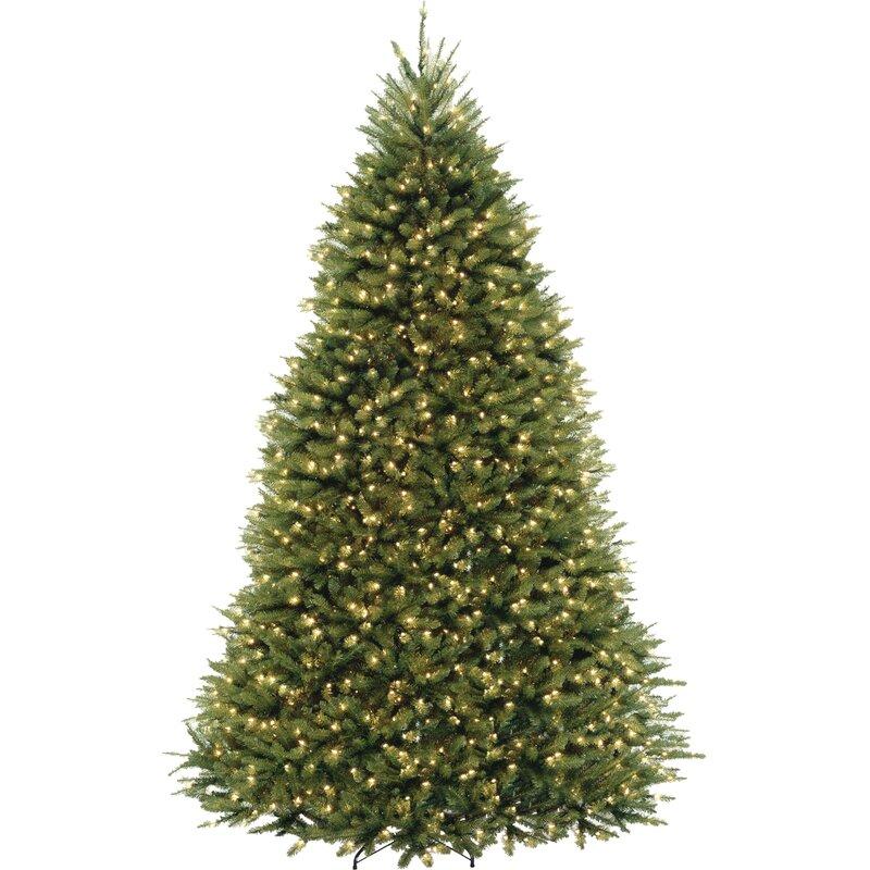 9 Artificial Christmas Tree.Fir 9 Hinged Green Artificial Christmas Tree With 900 Led Multicolored Lights