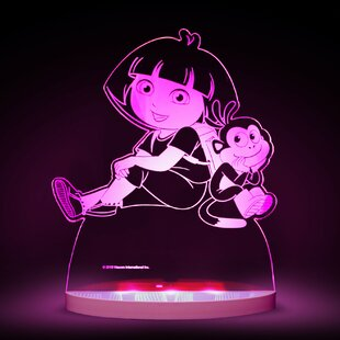 CompassCo Nickelodeon Dora the Explorer and Boots LED 3-Light Night Light