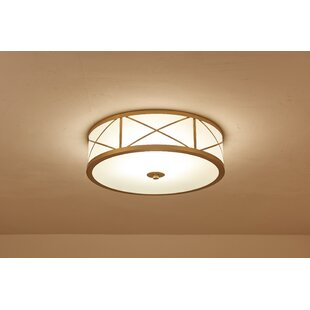 Charlton Home Sutterfield X' Shape Brass Frame 3-Light Flush Mount