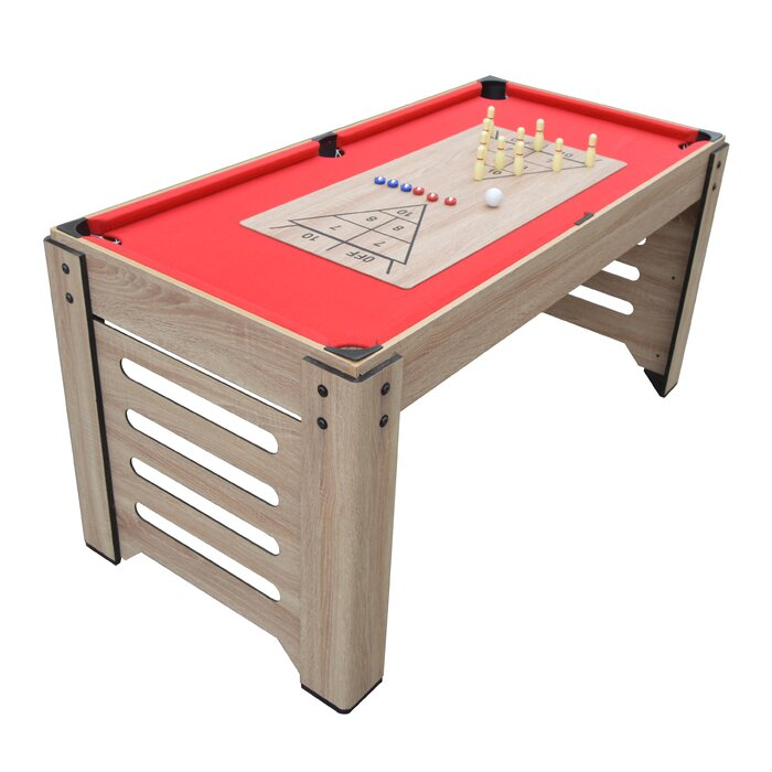 Madison Multi Game Table With Foosball Glide Hockey Table Tennis Billiards Shuffleboard And Bowling