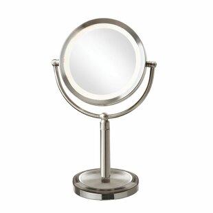 Affordable Reticuli LED Lighted Magnifier Table Mirror ByOrren Ellis
