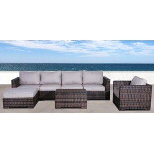 Brayden Studio Pierson Resort Club 4 Piece Sectional Set with Cushions