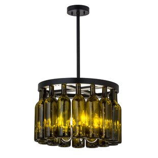 Red Barrel Studio Grunwald 16 Wine Bottle 5-Light Drum Chandelier