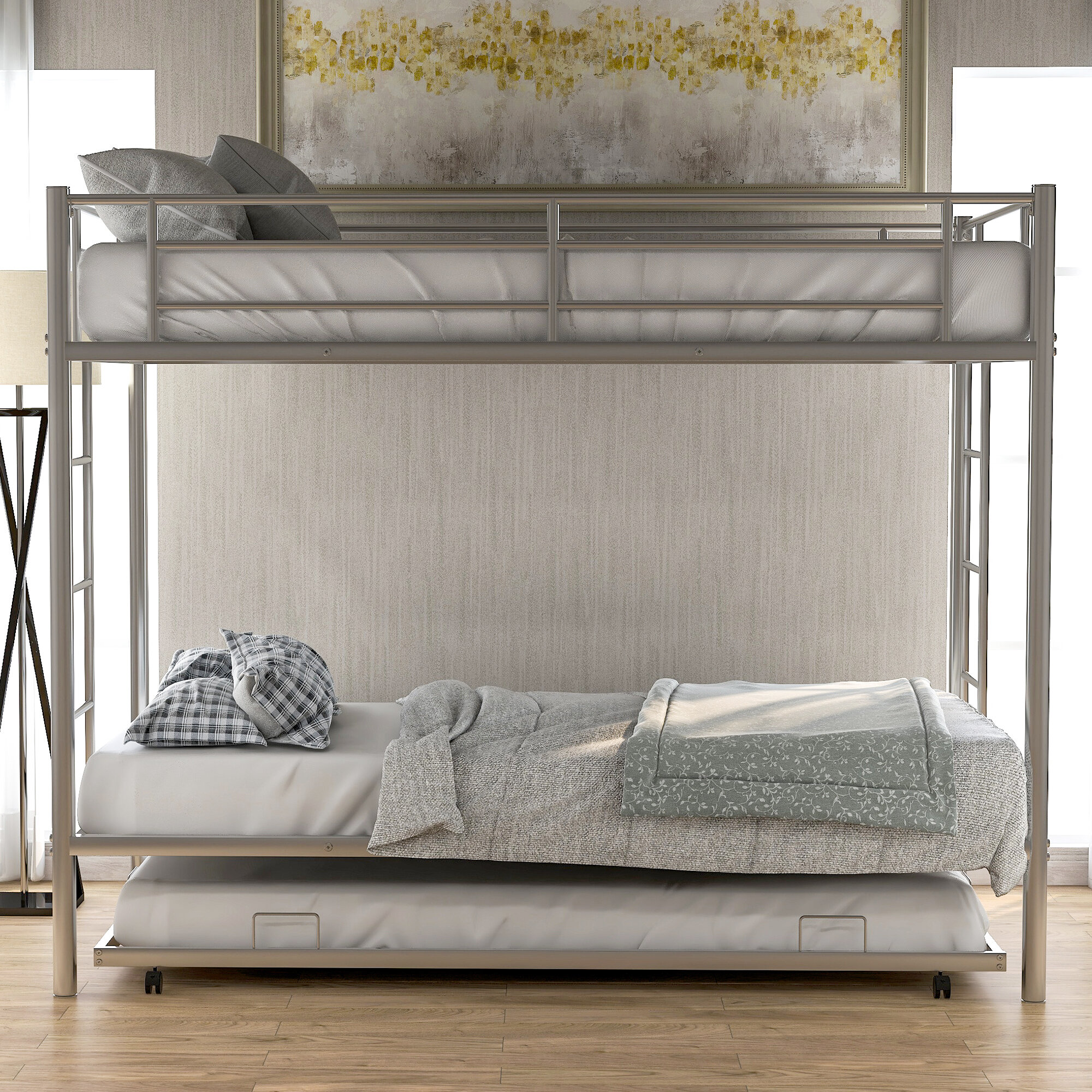 Isabelle Max Easingwold Twin Over Twin Bunk Bed With Trundle Wayfair