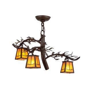 Meyda Tiffany Greenbriar Oak 3-Light Shaded Chandelier