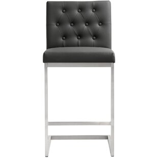 Harwell Stainless Steel 30 Bar Stool (Set of 2) Orren Ellis