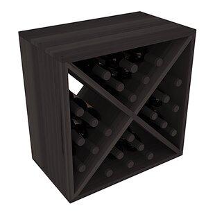 Karnes Redwood X-Cube 24 Bottle Tabletop Wine Rack
