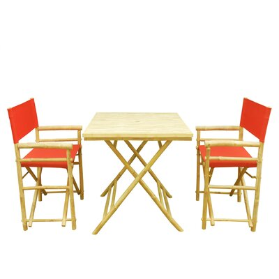 Buyers Choice Phat Tommy 3 Piece Bistro Set   Color: Red