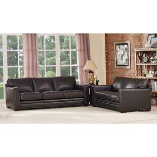Trent Austin Design Neil Solid Leather 2 Piece Living Room Set