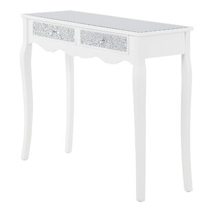 Hitchin Wood Glass Console Table By Fairmont Park