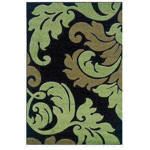 Black/Green Area Rug