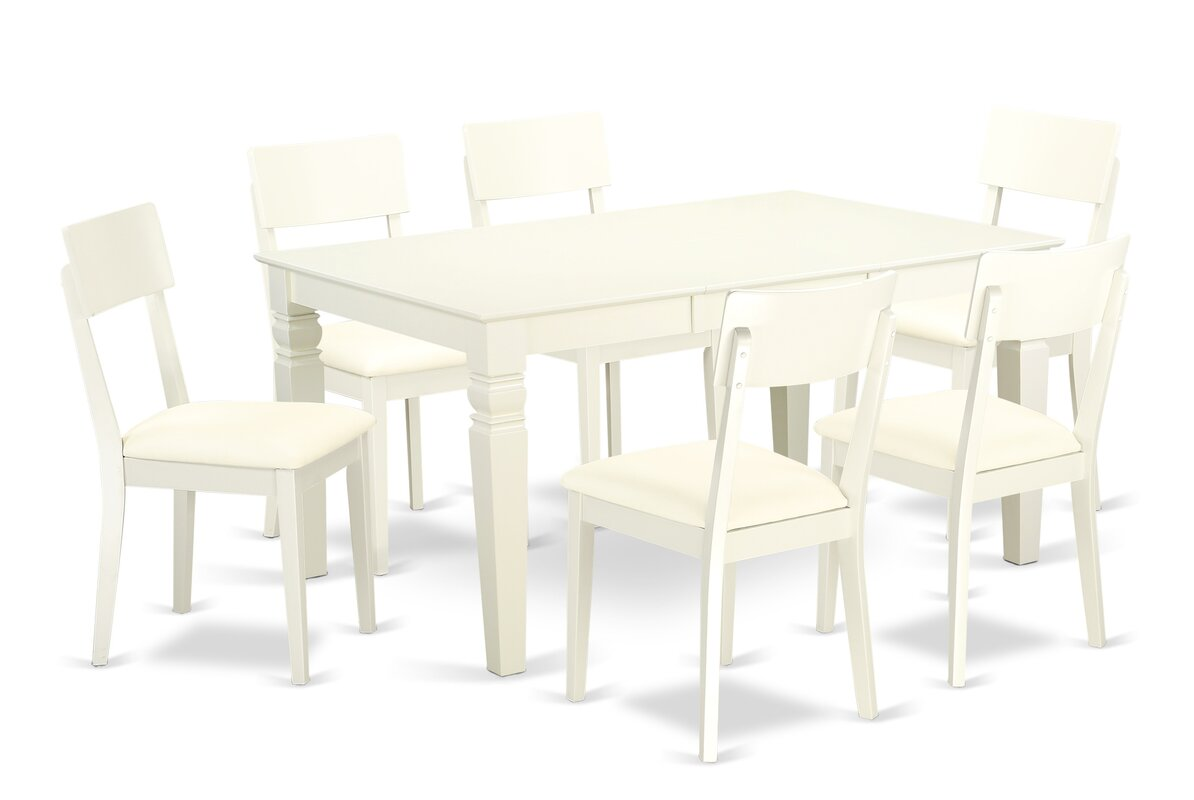 Darby Home Co Belcourt 7 - Piece Rubberwood Solid Wood Dining Set