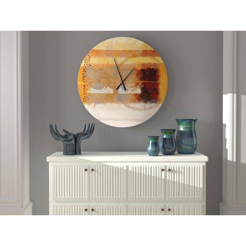 Ebern Designs Stimulating Refined Abstract Wall Clock Wayfair