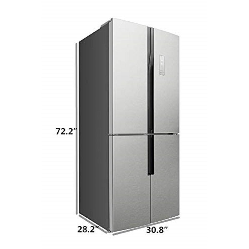 15 3 cu  ft  Counter Depth French Door Refrigerator with LED Control Panel