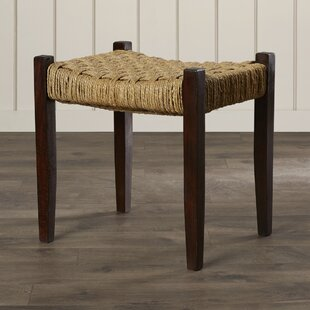 Read Reviews Amathous Woven Jute Vanity Stool By Bay Isle Home
