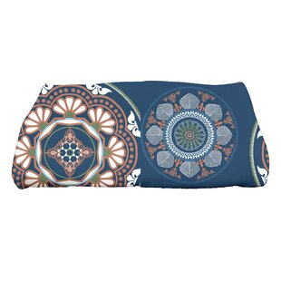 Soluri Medallions Floral Print Bath Towel