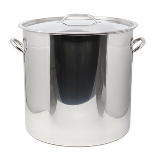 53 qt. Stainless Steel Stock Pot with Lid