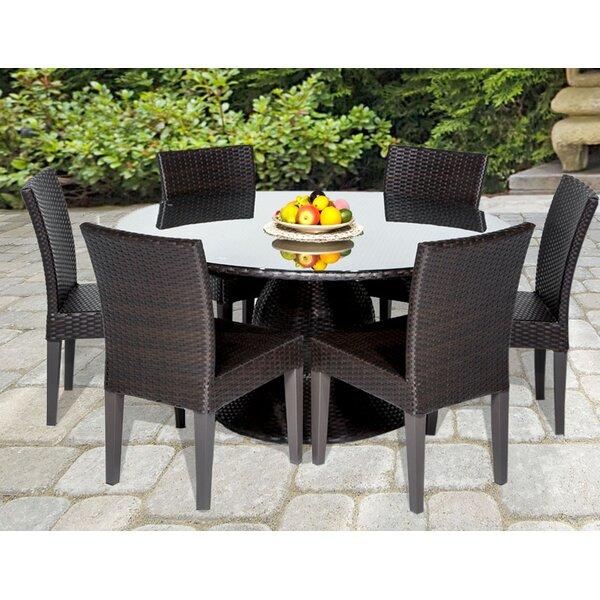 tk classics napa 7 piece dining set reviews wayfair rh wayfair com napa patio furniture home depot napa plantation patio furniture