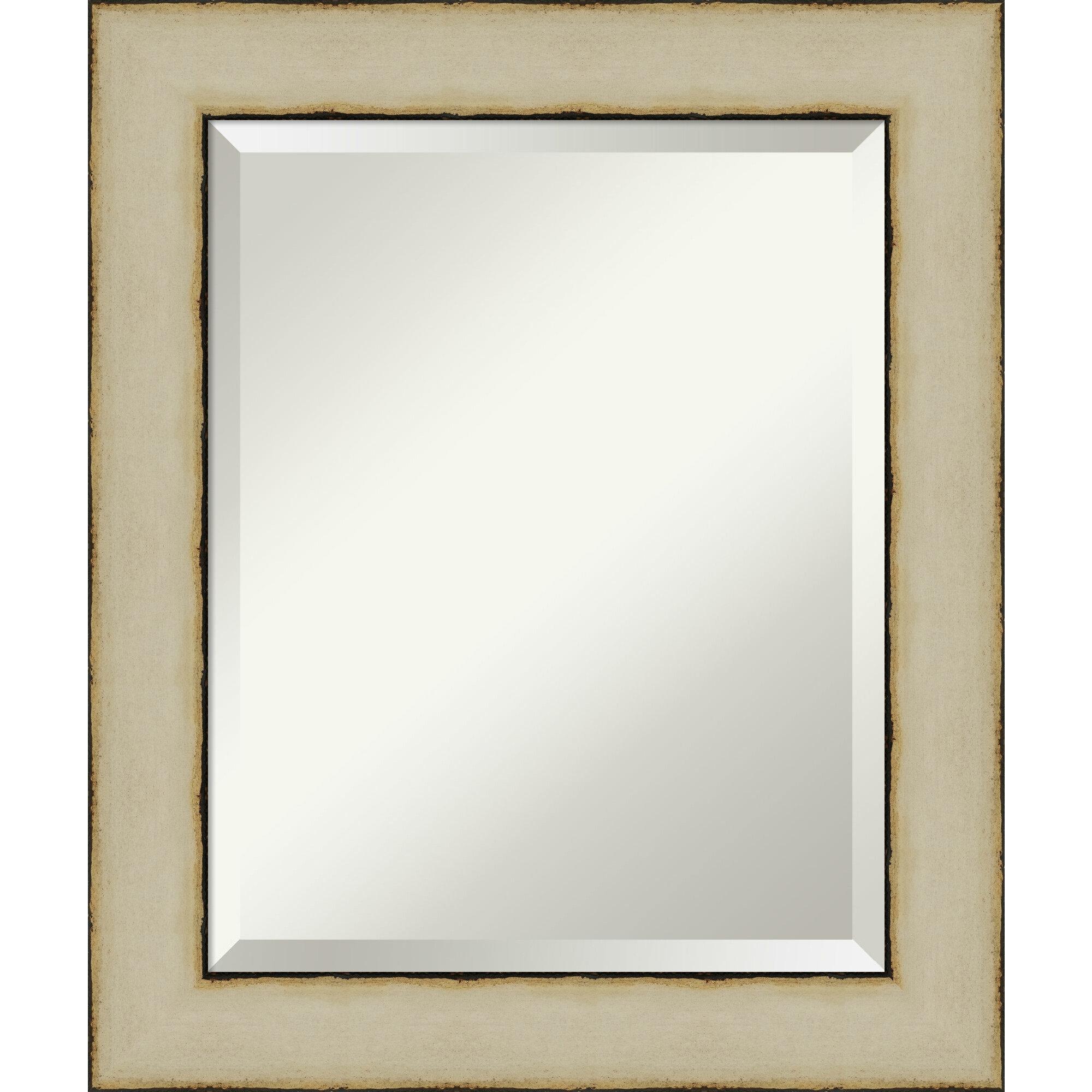 Amanti Art Rusted Cream Mid Century Modern Bathroom Vanity Mirror Perigold