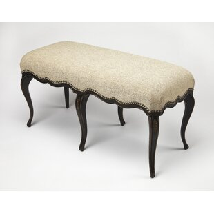 One Allium Way Dereck Cafe Noir Upholstered Bench