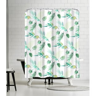 Victoria Nelson Tropical Pattern Single Shower Curtain