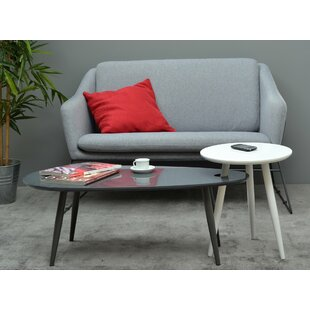 Wrought Studio Thornburg Coffee Table with 1 Nested Stool