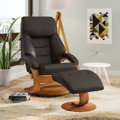 Brilliant Flathead Lake Leather Manual Swivel Recliner With Ottoman Gmtry Best Dining Table And Chair Ideas Images Gmtryco