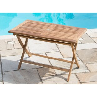 Deseret Folding Teak Dining Table By Sol 72 Outdoor