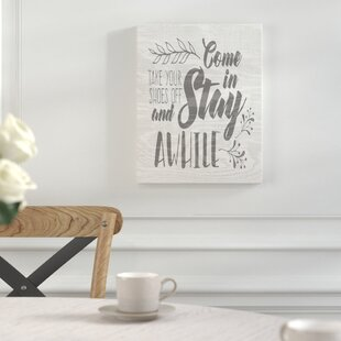 61e006c072b8d Take Your Shoes Off Sign | Wayfair