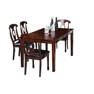 Downieville-Lawson-Dumont 5 Piece Solid Wood Dining Set by Loon Peak Sale