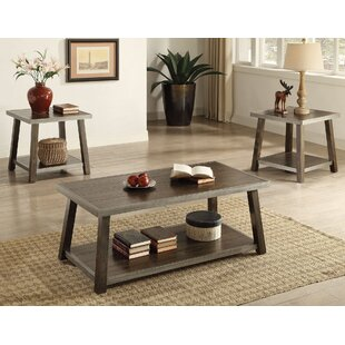 Madelia 3 Piece Coffee Table Set