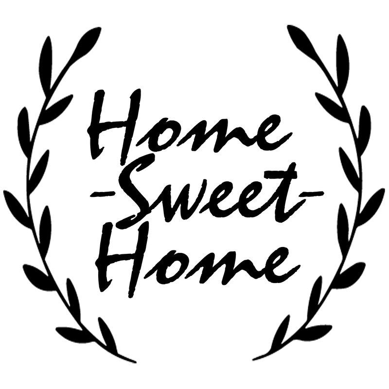 Home sweet home tree wine bottle Vinyl Decal sticker.